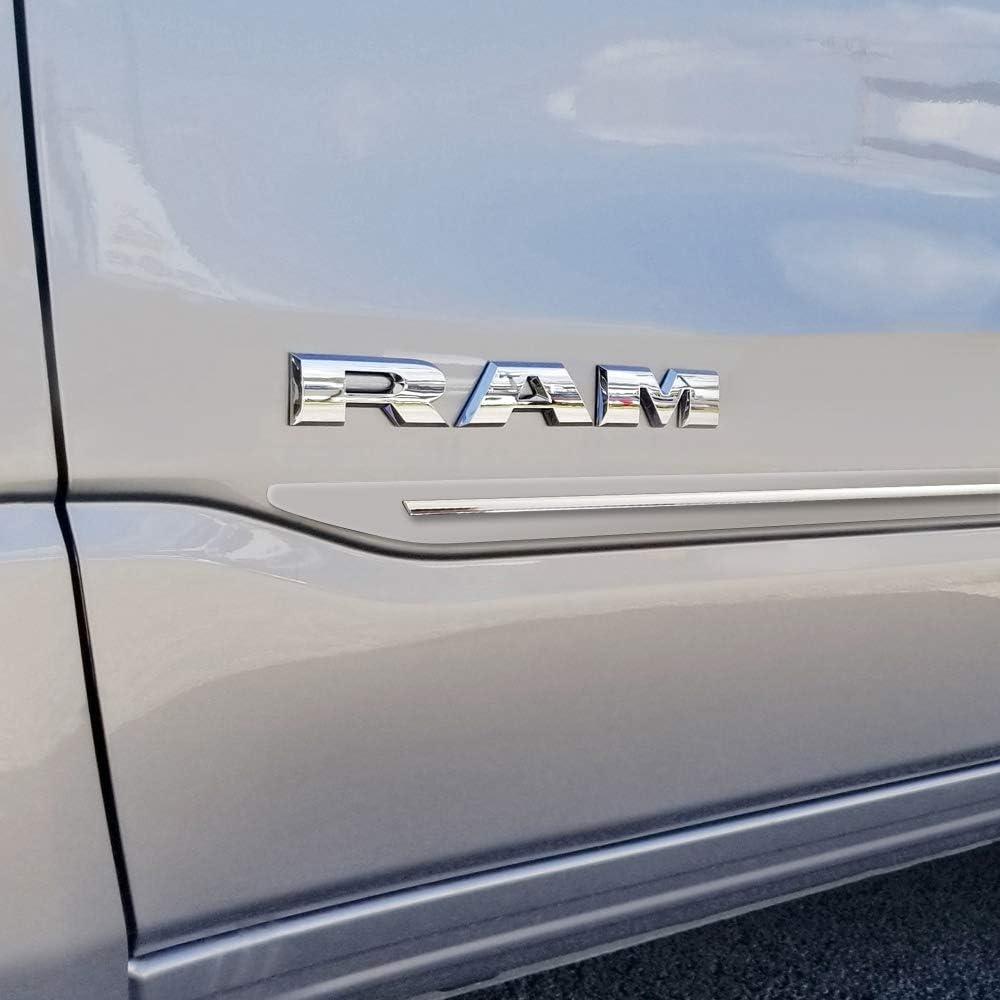 Dawn Enterprises CFS-RAM19-CC Custom Chromeline Body Side Molding Compatible with Dodge Ram PWD Ivory Pearl
