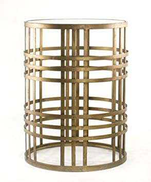 InnerSpace Luxury Products Barrel Table with Weave