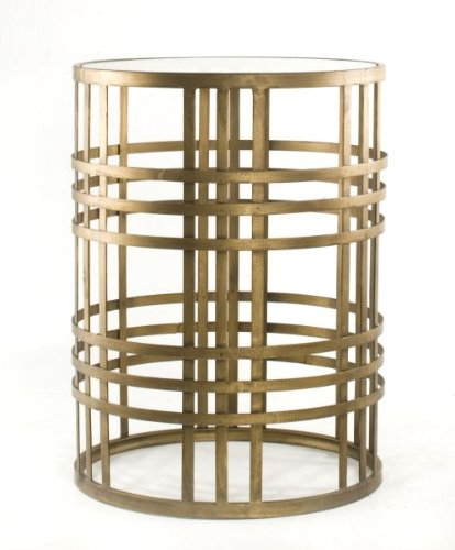 InnerSpace Luxury Products Barrel Table with Weave For Sale