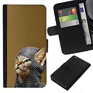 All Phone Most Case / Oferta Especial Cáscara Funda de cuero Monedero Cubierta de proteccion Caso / Wallet Case for HTC DESIRE 816 // Chainmail Warrior Cat