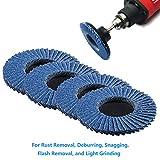 LotFancy Roloc Flap Disc, 3 Inch 40 60 80 120 Grit