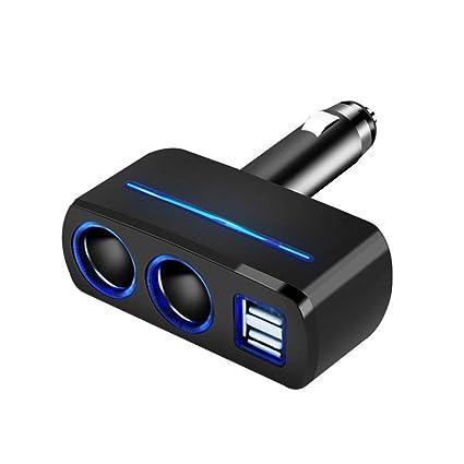 Amazon.com: Enchufe USB doble para encendedor de coche con ...