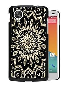 Individual Design Phone Case mandala flower Black Popular Sale Google Nexus 5 Phone Case
