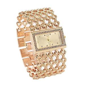 SKYLOFTS 18K Gold-Plated Quartz Movement Analogue Gold Dial Women Watches & Girls Watch