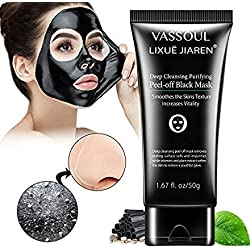 Vassoul Blackhead Remover Mask, Purifying Peel-off Mask with Activated Charcoal Deep Pore Cleanse for Acne