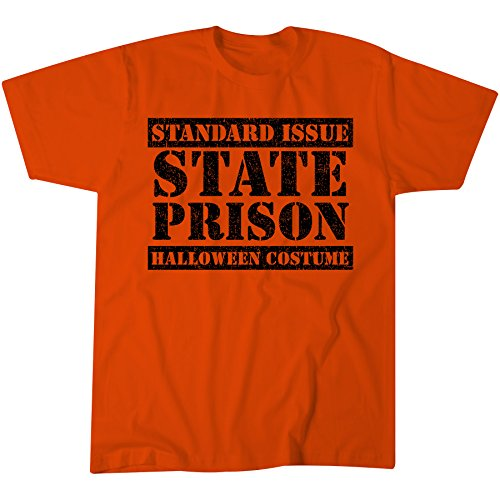 [Standard Issue STATE PRISON Halloween Costume - INMATE Funny Costume T-shirt - Orange] (Prison Halloween Costumes)