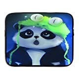 Laptop Sleeve Briefcase Green Frog Hat Panda Water-resistant Neoprene Laptop Carrying Bag