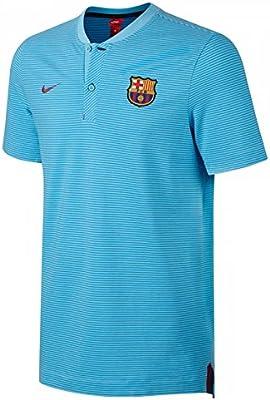 6bce16668 Amazon.com   Nike 2017-2018 Barcelona Authentic Polo Football Soccer T-Shirt  Jersey (Blue)   Sports   Outdoors