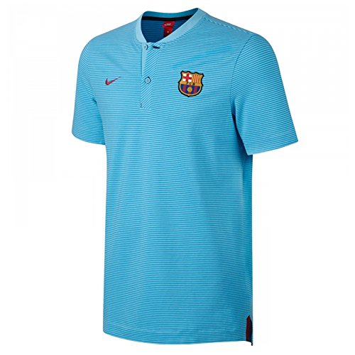 2017-2018 Barcelona Nike Authentic Polo Shirt (Blue)
