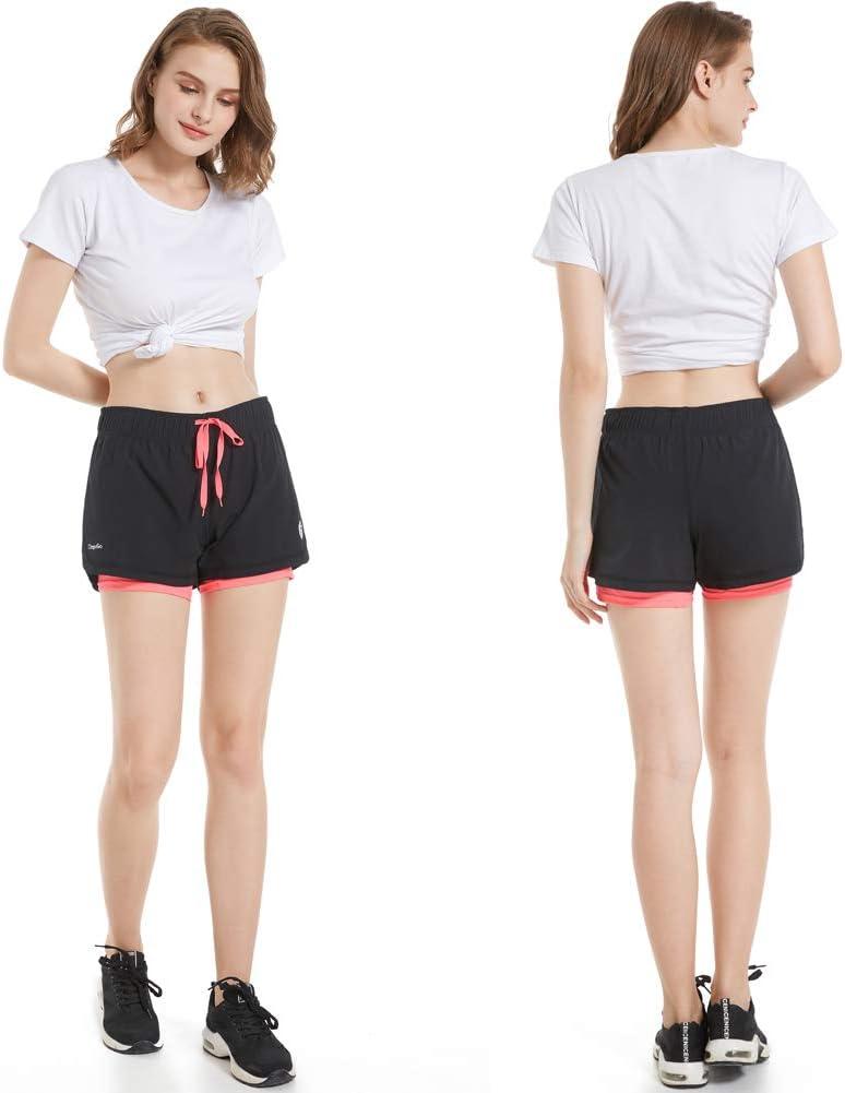 abbigliamento sportivo yoga Workout Set corto 2 pezzi palestra per sport da tennis pantaloni corti da donna maglietta casual