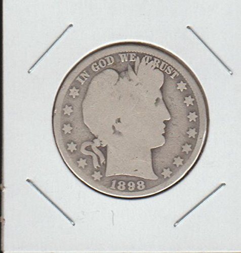 1898 O Barber or Liberty Head (1892-1915) Half Dollar About Good