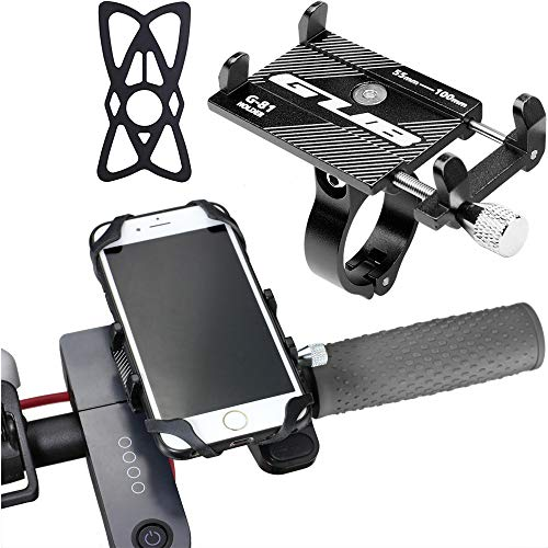 Dual Purpose Segway Handlebar for MiniLite MiniPro Scooter with Phone Mount, Handle Bracket with Knee Control, Self Balance Hoverboard Handle Bar Handle Bracket (Phone Mount (Aluminum))