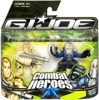 G.I. Joe The Rise of Cobra Combat Heroes 2-Pack Conrad Duke Hauser and Cobra Commander (Gi Joe Rise Of Cobra Cobra Commander)