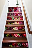 3D Abstract Painting Art 748 Stair Risers Decoration Photo Mural Vinyl Decal Wallpaper Murals Wallpaper Mural US Lemon (15x H:18cm x W:94cm (7''x37''))