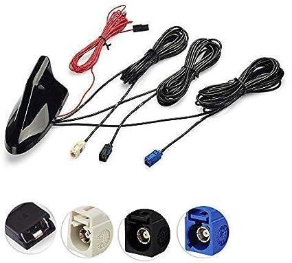 Bingfu Dab + Antena de Radio de Coche, GPS Antena Techo ...