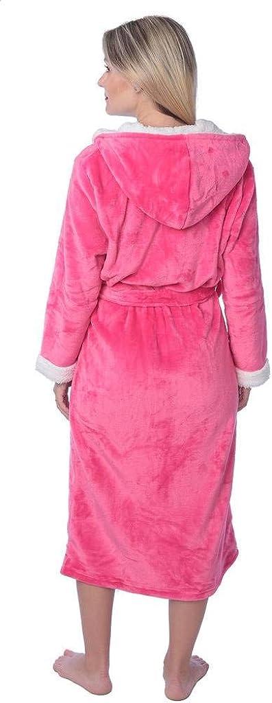 Womens Plus Size Plush Soft Warm Fleece Long Bathrobe Robe
