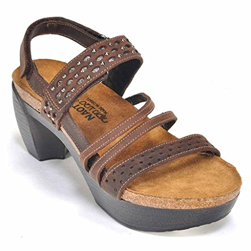 Bar Instep (Naot Women's Relate Wedge Sandal, Crazy Horse Leather, 41 EU/10 M US)