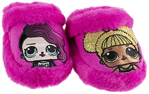 L.O.L. Surprise! Girls Slipper, Easy Slip-on Scuff, Queen Bee and Rocker, Pink, Size 9-10 for $<!--$23.98-->