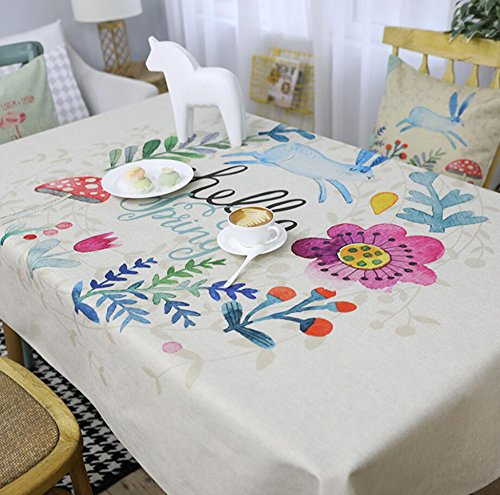 Luziang Manteles,Pastoral Feng Shui Comedor sabanas de algodon de Estar Mesa de Arte del pano Impermeable Mantel 140 * 2