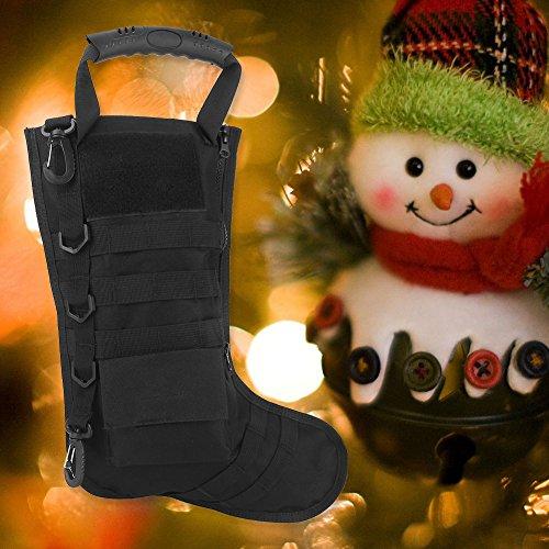 Tbest Chaussettes de Cadeau de Noël de Sac Tactique de Bas de Noël, Sac de Rangement en Nylon d'accessoires Militaires… 5
