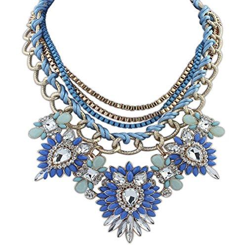 Eyourlife Christmas Multi Layers Pendant Necklace