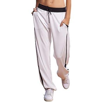 YHNUJMIK Pantalones de Fitness Pantalones Sueltos Pantalón ...