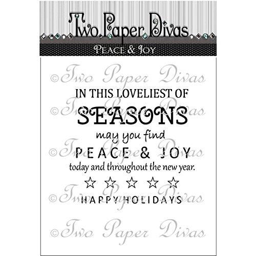 Two Paper Divas Peace & Joy Clear Stamps, 6