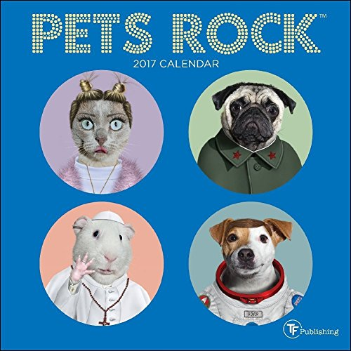 TF Publishing 2017 Pets Rock Mini Calendar (17-2156)