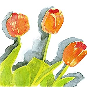 Floral Watercolor Painting - Tulips - Fine Art Print, Wall Decor, Gift 6