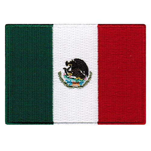 Mexico Flag Embroidered Patch Mexican Iron-On National Emblem