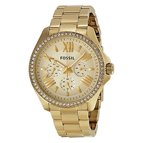 - Fossil Women's AM4482 Cecile Multifunction Stainless Steel Watch - Gold-Tone