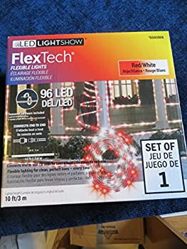 LED Lightshow 10ft. Indoor/Outdoor Red/White Flex Tech - Christmas Rope