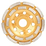 115/125/180mm 5inch Diamond Grinding Disc Double Row Cup Wheel for Angle Grinder Stone Grinding, Asphalt Grinding, Ceramic Grinding (115mm)