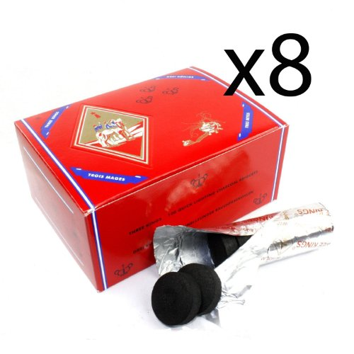 8 - Box of 100pcs Three King Charcoal Premium Hookah Hokah incense charcoal coals- TOTAL 800pcs by Three Kings