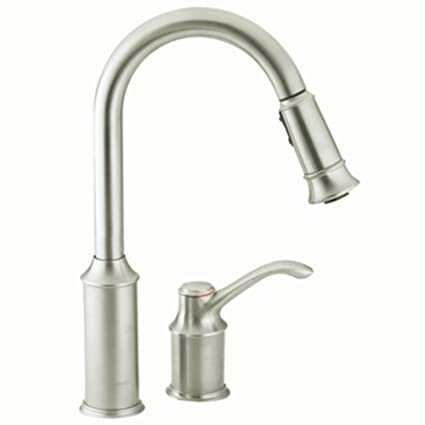 Superbe Moen 7590CSL Aberdeen One Handle High Arc Pulldown Kitchen Faucet Featuring  Reflex, Classic