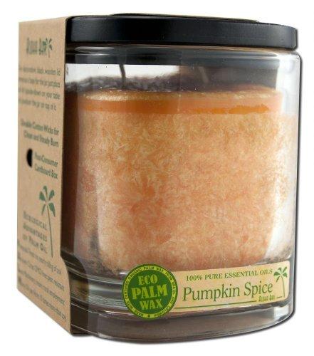 Palm Wax Candle Pumpkin Spice Orange Aloha Bay 8 oz Glass Jar - Candle Glass Pumpkin Spice