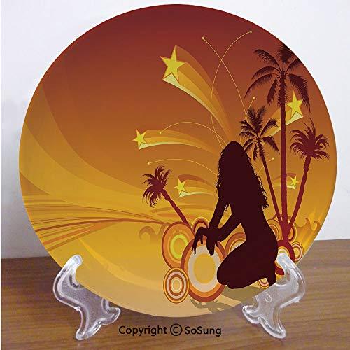 Paradise Stoneware Plates - Yellow 6