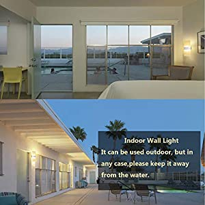 DASINKO Modern Wall Sconce 12W, Set of 2 LED Wall Lamp Warm White, Acrylic Material Wall Mounted Wall Lights