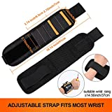 Magnetic Wristband, with 5 Strong Magnets for