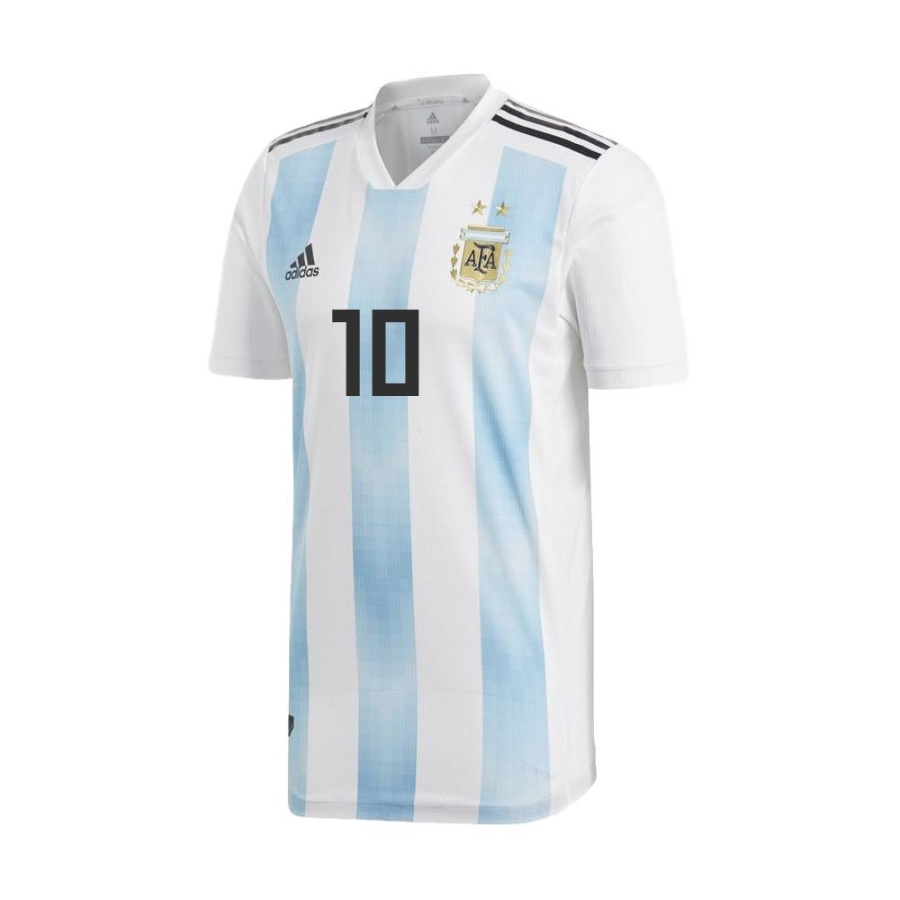 アルゼンチンHome Messi Jersey 2018 / 2019 (公式印刷) B077QTSC86 Medium