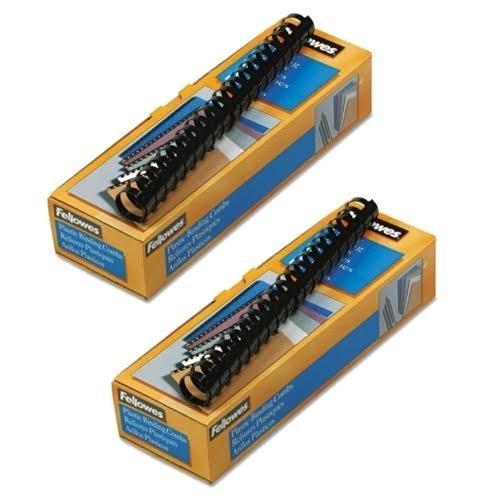 Fellowes 52383 Plastic Comb Bindings, 1'' Diameter, 200 Sheet Capacity, Black (Pack of 10 Combs) (2 Pack) by Fellowes