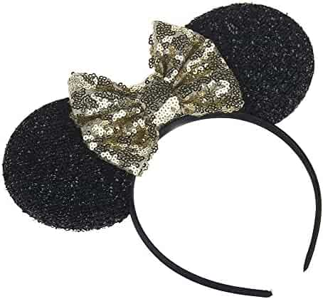 8d6da4b9d978fc Kewl Fashion Sequins Bowknot Lovely Mouse Ears Headband Headwear for Travel  Festivals