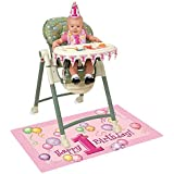 Girl 1st Birthday High Chair Decorating Kit