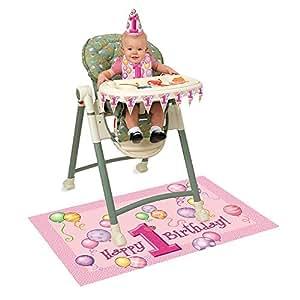 Decoración primer cumpleaños Trona chica - Cumpleaños infantiles - Sabor niño