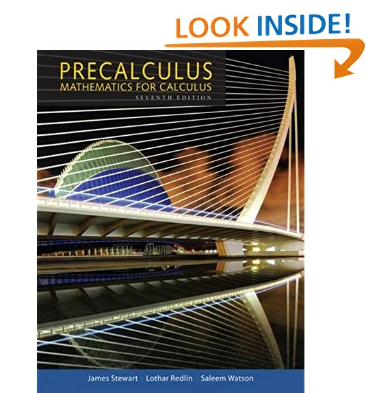 Precalculus mathematics for calculus 7th edition amazon precalculus mathematics for calculus standalone book fandeluxe Images