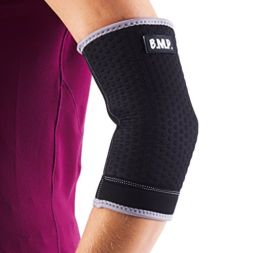 Black Mountain Products Extra Thick Warming Elbow Brace/Elbow Compression Sleeve., Black, Medium by Black Mountain