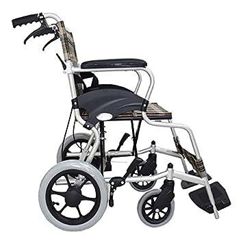 GUO Aluminio silla de ruedas ligera plegable silla de ruedas de viaje: Amazon.es: Deportes y aire libre