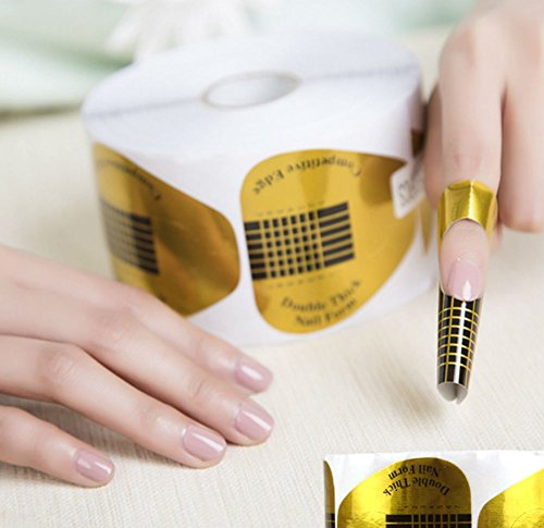 AKOAK 100 Pieces Horseshoe-shaped Nail Art Acrylic Nail / UV GEL Nail Extention Tips Form Guide ()