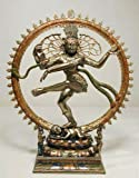 LORD NATARAJA Dancing Shiva Statue, Real Bronze Powder Cast 10 1/2-inch