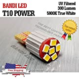 BANDI T10 or T-10 Power Samsung LED Car Interior Lamp Light Bulbs DC12V - 10 Pack